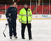 Mike Souza (UNH - Associate Head Coach), Patrick Foley - The University of New Hampshire Wildcats practiced at Fenway on Friday, January 13, 2017, in Boston, Massachusetts.