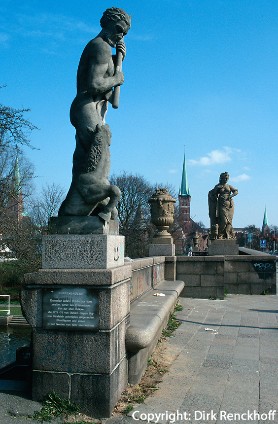 Puppenbrücke in Lübeck, Deutschland, Unesco-Weltkulturerbe
