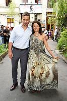 Tom Wlaschiha und Jana Pallaske beim Besuch der britischen Royals im Tanzlokal und Restaurant Clärchens Ballhaus. Berlin, 20.07.2017