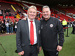 Sheffield United's Tony Currie with Head of recruitment Paul Mitchell  during the League One match at Bramall Lane, Sheffield. Picture date: April 30th, 2017. Pic David Klein/Sportimage