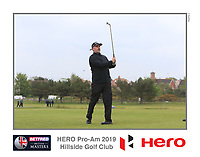 Playing with Dean Burmester (RSA) on the 10th tee during the Pro-Am of the Betfred British Masters 2019 at Hillside Golf Club, Southport, Lancashire, England. 08/05/19<br /> <br /> Picture: Thos Caffrey / Golffile<br /> <br /> All photos usage must carry mandatory copyright credit (© Golffile | Thos Caffrey)