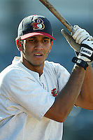 Gabriel Martinez of the Bakersfield Blaze before a 2004 season California League game against the Rancho Cucamonga Quakes in Rancho Cucamonga, California. (Larry Goren/Four Seam Images)