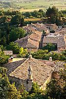 Rooftop view of rural France, Oppede le Vieux de Provence, France