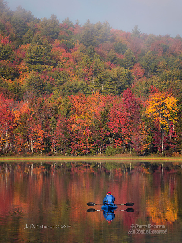 At Peace on Stocker Pond, New Hampshire