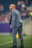Orlando, Florida - Sunday, May 14, 2016: Western New York Flash head coach Paul Riley during a National Women's Soccer League match between Orlando Pride and New York Flash at Camping World Stadium.