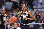 22 January 2017: Notre Dame's Lindsay Allen. The University of North Carolina Tar Heels hosted the University of Notre Dame Fighting Irish at Carmichael Arena in Chapel Hill, North Carolina in a 2016-17 NCAA Division I Women's Basketball game. Notre Dame won the game 77-55