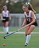 Garden City No. 28 Emily Clarke controls the ball during the Nassau County varsity field hockey Class B final against Manhasset at Adelphi University on Sunday, November 1, 2015. Garden City won by a score of 9-0.<br /> <br /> James Escher