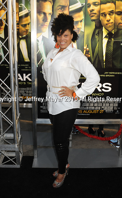 """HOLLYWOOD, CA. - August 04: Tracy """"Twinkie"""" Byrd arrives at the """"Takers"""" Los Angeles Premiere at the ArcLight Cinemas on August 4, 2010 in Hollywood, California."""