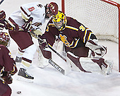 (Joe Van Culin) Brett Motherwell, Derek MacIntyre - The Boston College Eagles and Ferris State Bulldogs tied at 3 in the opening game of the Denver Cup on Friday, December 30, 2005, at Magness Arena in Denver, Colorado.  Boston College won the shootout to determine which team would advance to the Final.