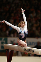 April 30, 2004; Amsterdam, Netherlands; ALINA KOZICH of Ukraine performs on balance beam at 2004 European Championships Artistic Gymnastics.<br /> Mandatory Credit: Tom Theobald/ ZUMA Press.<br /> (&copy;) Copyright 2004 Tom Theobald