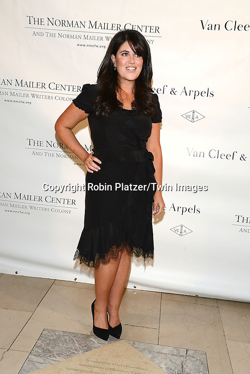 Monica Lewinsky attends the Norman Mailer Center Sixth Annual Gala on October 27, 2014 at The New York Public Library in New York City.<br /> <br /> photo by Robin Platzer/Twin Images<br />  <br /> phone number 212-935-0770