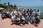 Santa Barbara Ukulele Club at party on 8-19-18