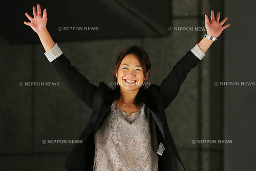 Mami Sato, <br /> September 10, 2013  : <br /> Debrief session about Tokyo won the bid to host the 2020 Summer Olympic Games in Shinjuku, Tokyo, Japan. <br /> (Photo by Daiju Kitamura/AFLO SPORT)
