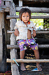 A child in the village of Dong in northern Cambodia.