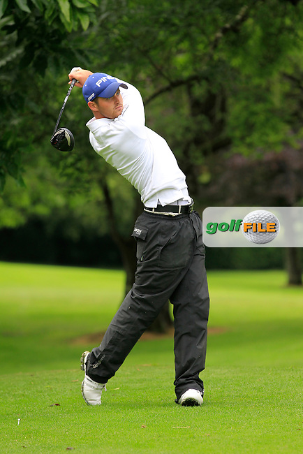 Conor O'Rourke (Naas) on the 3rd tee during round 1 of The Mullingar Scratch Cup in Mullingar Golf Club on Sunday 3rd August 2014.<br /> Picture:  Thos Caffrey / www.golffile.ie