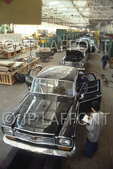 "October 1984. In Shanghai area, this is the classic Chinesse made model. The ""Shanghai"". They produce 5.000 cars a year. The waiting time is more than 8 years."