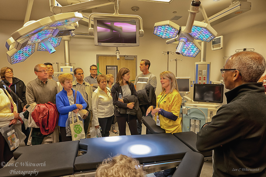 Oakville Trafalgar Memorial Hospital operating tour group.