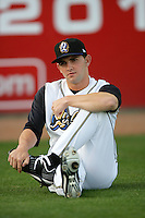 April 14, 2010: Tyler Chatwood of the Rancho Cucamonga Quakes before game against the Modesto Nuts at The Epicenter in Rancho Cucamonga,CA.  Photo by Larry Goren/Four Seam Images