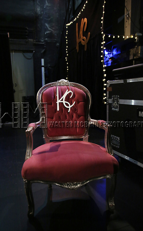 Backstage atmosphere and props during the Opening Night of Kristin Chenoweth - 'My Love Letter To Broadway'  at the Lunt-Fontanne Theatre on November 2, 2016 in New York City.