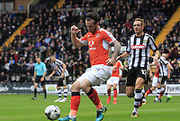 Jack Marriott of Luton Town brings the ball under control during the Sky Bet League 2 match between Notts County and Luton Town at Meadow Lane, Nottingham, England on 29 October 2016. Photo by Liam Smith / PRiME Media