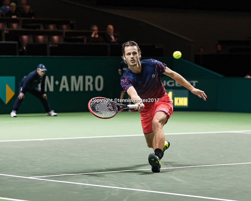 ABN AMRO World Tennis Tournament, Rotterdam, The Netherlands, 17 Februari, 2017, Wesley Koolhof (NED)<br /> Photo: Henk Koster