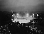 Pittsburgh PA:  View of Forbes Field from the University of Pittsburgh Cathedral of Learning - the Oakland section of Pittsburgh 1960