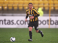 Phoenix' Ben Sigmund during the A-League football match between Wellington Phoenix and Perth Glory at Westpac Stadium, Wellington, New Zealand on Sunday, 16 August 2009. Photo: Dave Lintott / lintottphoto.co.nz