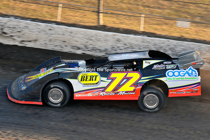 Sep 5, 2013; 6:43:56 PM; Rossburg, OH., USA; The 43rd annual World 100 $46,000-to-win UMP DIRTcar-sanctioned event at the half-mile Eldora Speedway.  Mandatory Credit: (thesportswire.net)