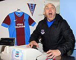 Johnny McDonnell (Drogheda United Manager) during a photoshoot in the Drog Shop at Scotch Hall on Saturday 14th March 2015.<br /> Picture:  Thos Caffrey / www.newsfile.ie