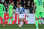 CD Leganes's Martin Braithwaite and Levante UD's Erick Cathriel Cabaco during La Liga match between CD Leganes and Levante UD at Butarque Stadium in Leganes, Spain. March 04, 2019. (ALTERPHOTOS/A. Perez Meca)