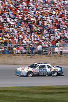 Buddy Baker, #88 Crisco Oldsmobile, action, crowd, Daytona 500, Daytona International Speedway, Daytona Beach, Florida, February 15, 1987. (Photo by Brian Cleary/www.bcpix.com)