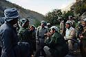 Iran 1979.Peshmerga donnant des informations sur les activites militaires a Abdul Rahman Ghassamlou au quartier general du PDKI.Iran 1979.Peshmerga giving military informations to Abdul Rahman Ghassemlou at the HQ of KDPI