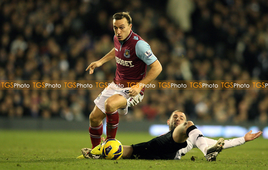 Mark Noble of West Ham - Fulham vs West Ham United, Barclays Premier League at Craven Cottage, Fulham - 30/01/13 - MANDATORY CREDIT: Rob Newell/TGSPHOTO - Self billing applies where appropriate - 0845 094 6026 - contact@tgsphoto.co.uk - NO UNPAID USE.