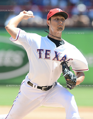 Yu Darvish (Rangers),<br /> JUNE 2, 2013 - MLB :<br /> Yu Darvish of the Texas Rangers pitches during the Major League Baseball game against the Kansas City Royals at Rangers Ballpark in Arlington in Arlington, Texas, United States. (Photo by AFLO)