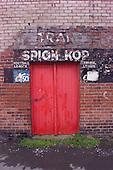 23/06/2000 Blackpool FC Bloomfield Road Ground..Spion Kop gates.....© Phill Heywood.