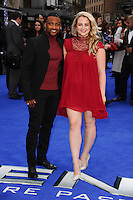 "JB Gill and new wife Chloe Tangney arriving for the ""X-Men: Days of Future Past"" UK premiere at the Odeon Leicester Square, London. 12/05/2014 Picture by: Steve Vas / Featureflash"