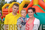 Robert Shanahan, Cody Shanahan and Trisha Murphy pictured at the childrens fun day at Kevin Barrys Villas on Friday.