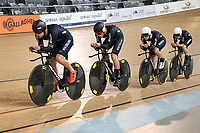 Pieter Bulling, Hugo Jones, Dylan Kennett  and Tom Sexton during training, Avantidrome, Home of Cycling, Cambridge, New Zealand, Friday, March 17, 2017. Mandatory Credit: © Dianne Manson/CyclingNZ  **NO ARCHIVING**