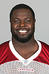 This is a 2014 photo of Frostee Rucker of the Arizona Cardinals NFL football team.  This image reflects the Cardinals active roster as of 6/9/14 when this image was taken.  (AP Photo)