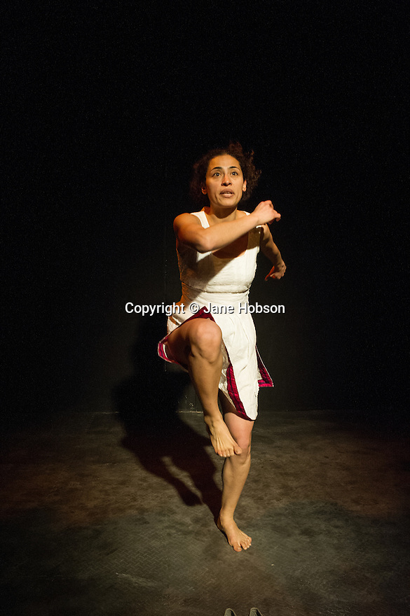The London premiere of the Fringe First Award winning show JUANA IN A MILLION, a one-woman show exploring true stories of immigrants to the UK, opens the new studio at Southwark Playhouse. Picture shows author-performer Vicky Araico Casas.