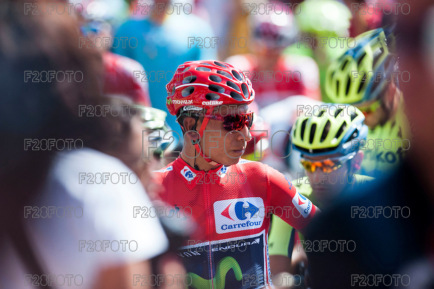 Castellon, SPAIN - SEPTEMBER 7: Nairo Quintana during LA Vuelta 2016 on September 7, 2016 in Castellon, Spain
