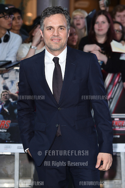 "Mark Ruffalo arrives for the ""Avengers: Age of Ultron"" European premiere at the Vue cinema, Westfield London. 21/04/2015 Picture by: Steve Vas / Featureflash"