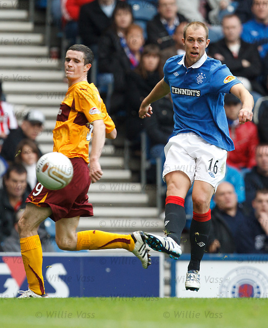 Steven Whittaker cracks in a shot past Jamie Murphy