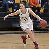 Maryann Bagonis #11 of Mepham surveys the court during a non-league varsity girls basketball game against Carle Place at Wantagh High School on Thursday, Dec. 7, 2017. Carle Place won by a score of 54-35.
