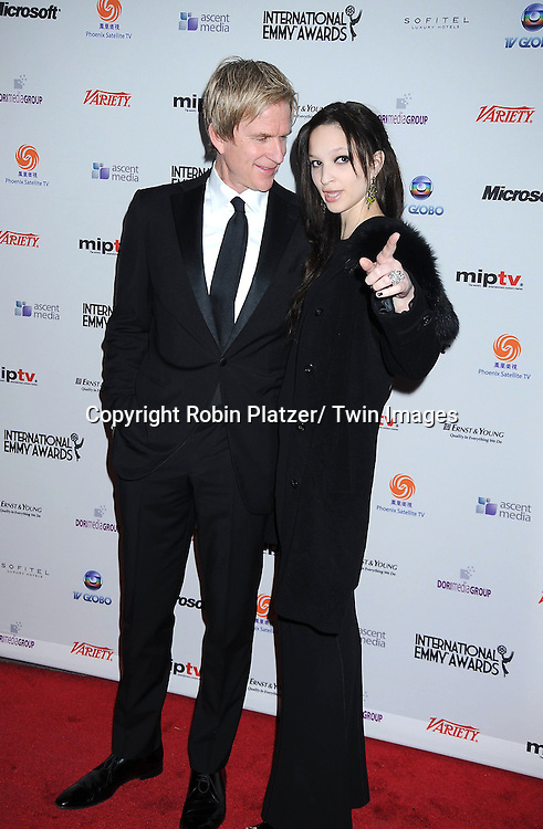Matthew Modine and daughter Ruby posing for photographers at The 38th Annual International Emmy Awards on November 22, 2010 at The New York Hilton Hotel.