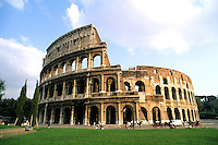 Famous ruins of the Colusseum in beautiful Rome Italy Rom