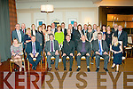 FAREWELL DINNER: Bishop Billy Crean (seated centre) Tralee native and newly appointed Bishop of Cloyne, pictured at a meal in the Brehon hotel, Killarney, with colleagues and friends, as he stepped down from the board of directors from local radio station, Radio Kerry.