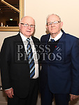 Tommy Weir and Eamon Faulkner at the St. Colmcilles gala ball in City North hotel. Photo:Colin Bell/pressphotos.ie