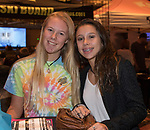 "Kayla McBain and Olieia Dundas attend the screening of Warren Miller's film ""Line of Descent"" at the Reno Ballroom on Saturday, Nov. 4, 2017 in downtown Reno."