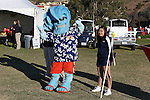 November 2, 2013; Malibu, CA, USA; Pepperdine Waves mascot and cheerleader during the WCC Cross Country Championship at Alumni Park.